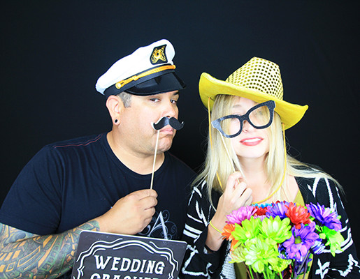 Ashley's wedding reception with booth12 photo booth rentals
