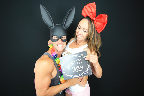 Emma & Masons engagement with booth12 photo booth rentals. San Diego's premier photo booth rental!