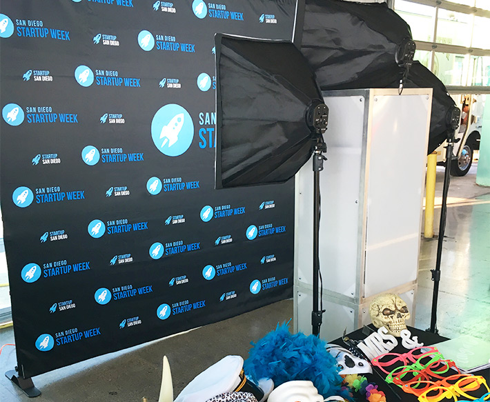 booth12 photo booth setup. San Diego's premier photo booth rental!