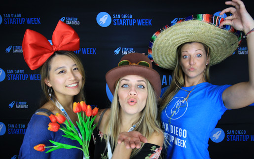 booth12 photo booth rental at San Diego Startup Week Closing Ceremony